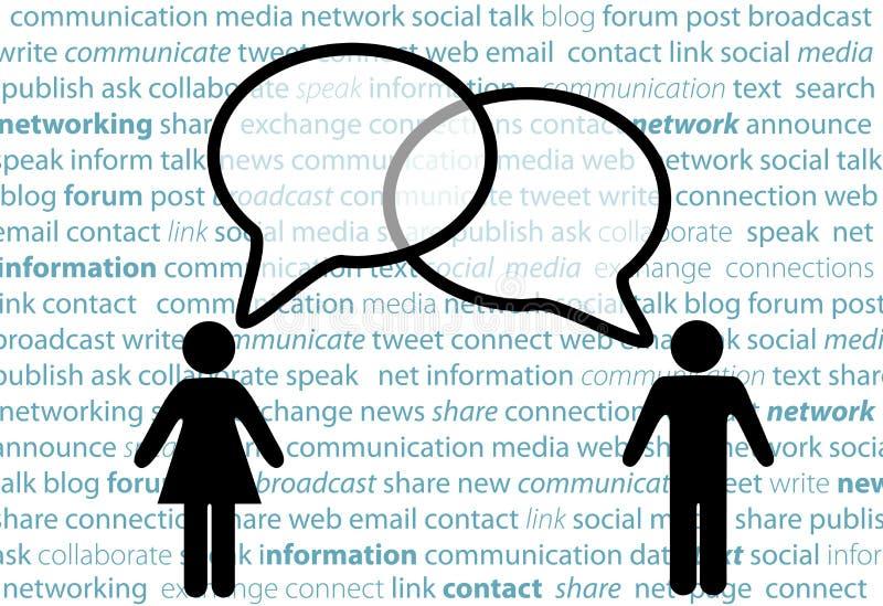 bąbli sieci ludzie części ogólnospołecznej symbolu rozmowy ilustracja wektor