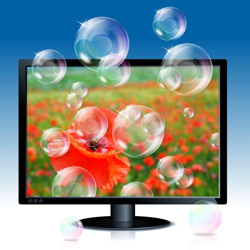 bąbli wizerunku lcd monitoru maczka mydło ilustracji
