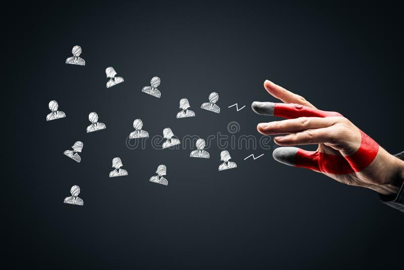 Bądź magnesem dla swoich klientów lub zasobów ludzkich zdjęcia royalty free