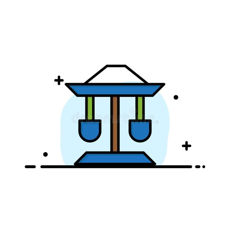 Bęben, Dobrze, prawo, Balansowy Biznesowy logo szablon p?aski kolor royalty ilustracja