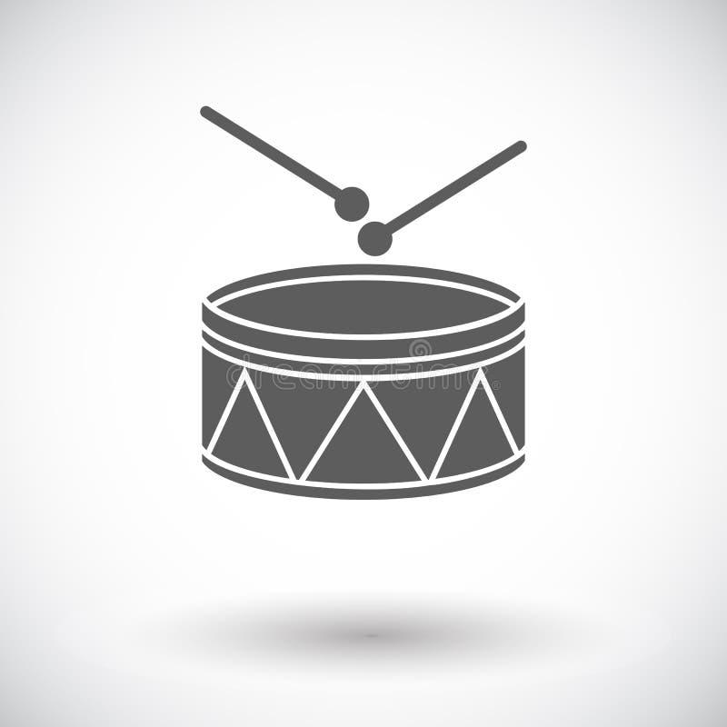 Bęben ikona ilustracja wektor