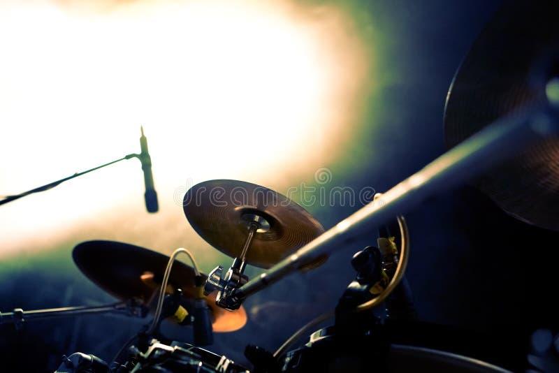Bęben i koncertów światła zdjęcie stock
