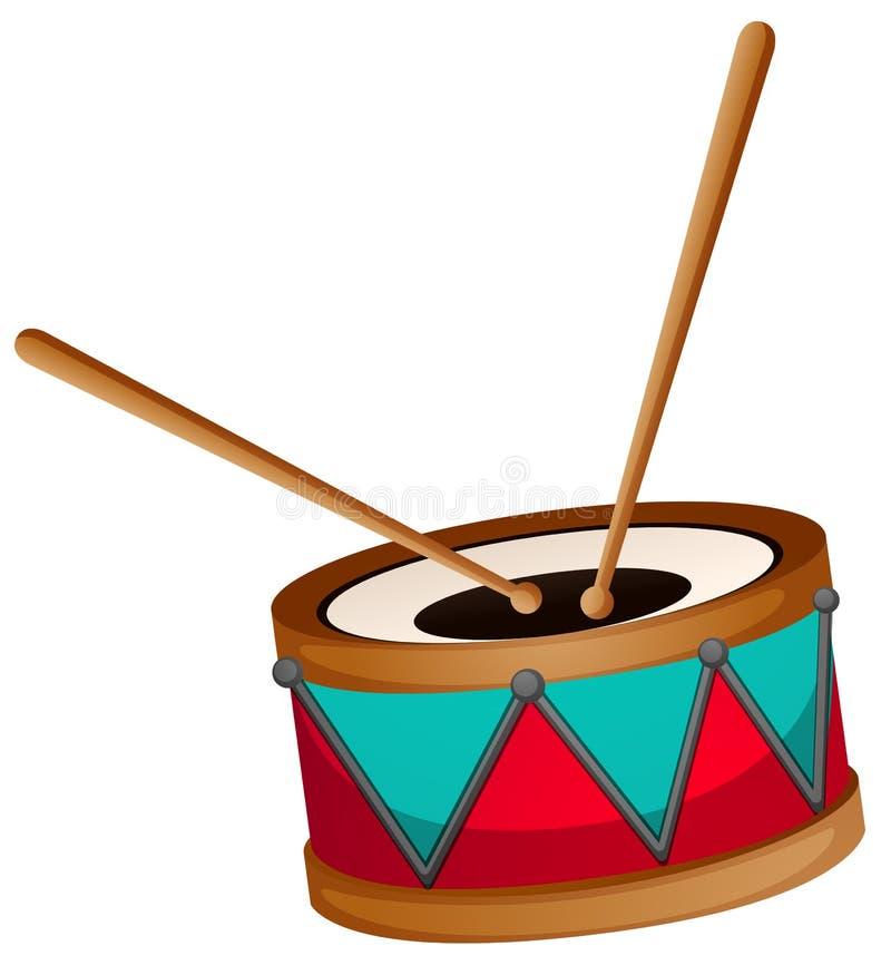 Bęben z dwa kijami ilustracji