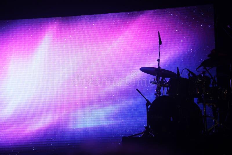 Bębenu set na scenie zdjęcie stock