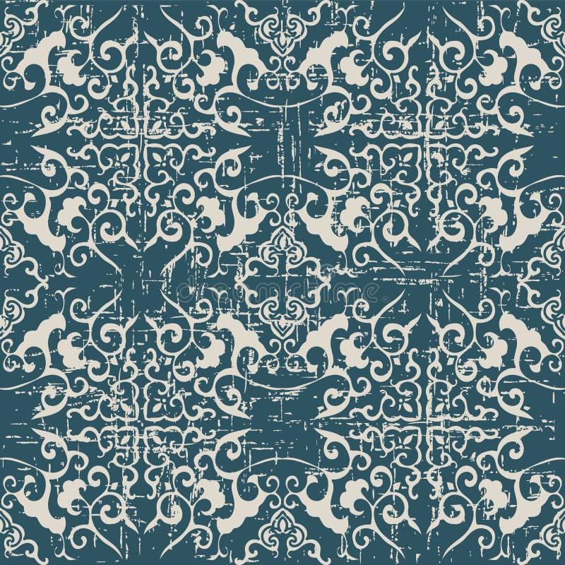 Będący ubranym out antykwarscy bezszwowi tło krzyża krzywy spirali kaleidos royalty ilustracja