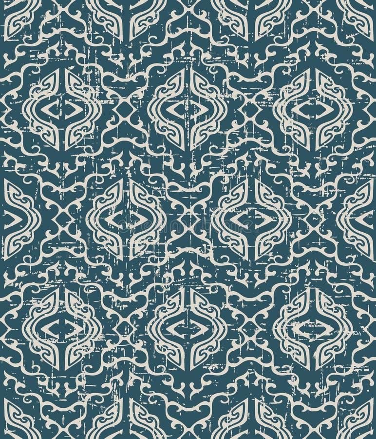 Będący ubranym out antykwarski bezszwowy tło spirali krzyża kalejdoskop g ilustracji