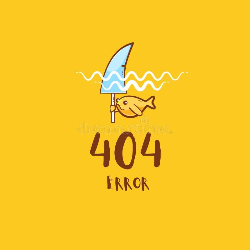 404 błąd ilustracja wektor