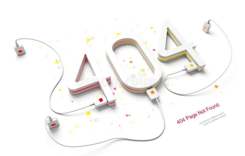 Błąd 404 royalty ilustracja