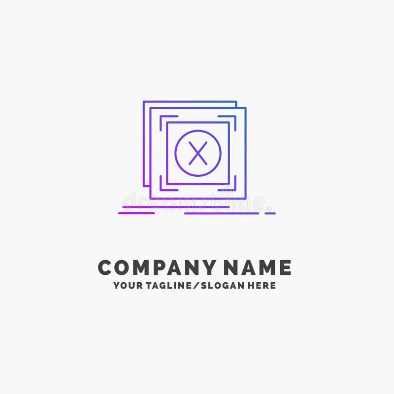 błąd, zastosowanie, wiadomość, problem, serweru logo Purpurowy Biznesowy szablon Miejsce dla Tagline ilustracji
