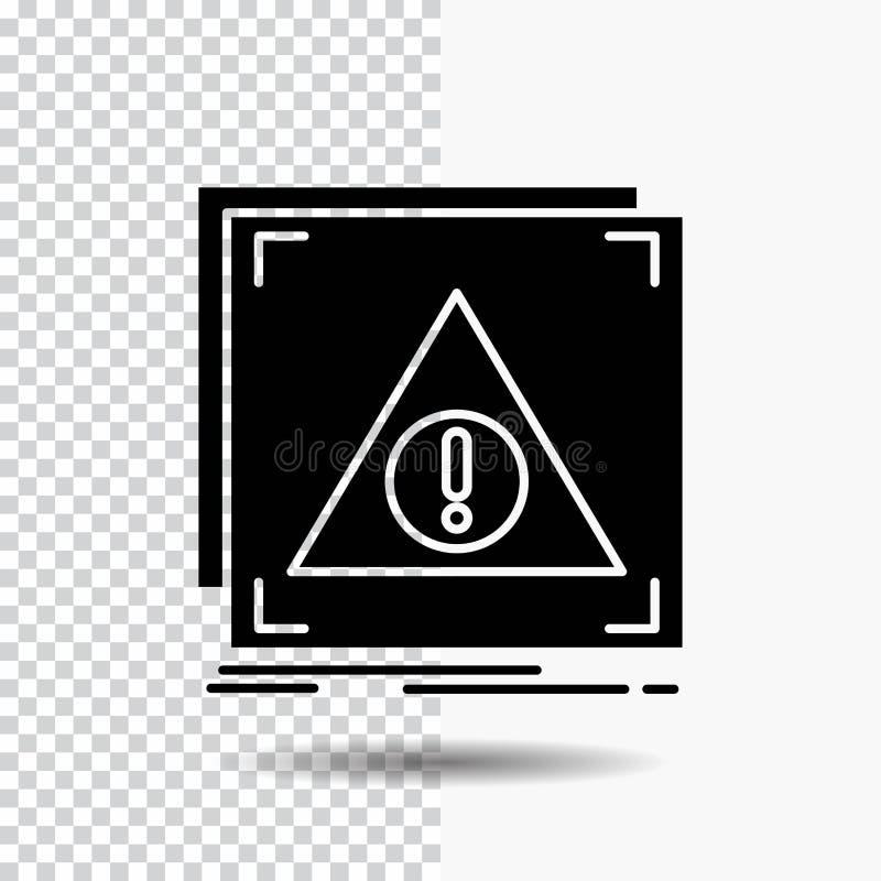 Błąd, zastosowanie, Zaprzeczający, serwer, raźna glif ikona na Przejrzystym tle Czarna ikona ilustracji