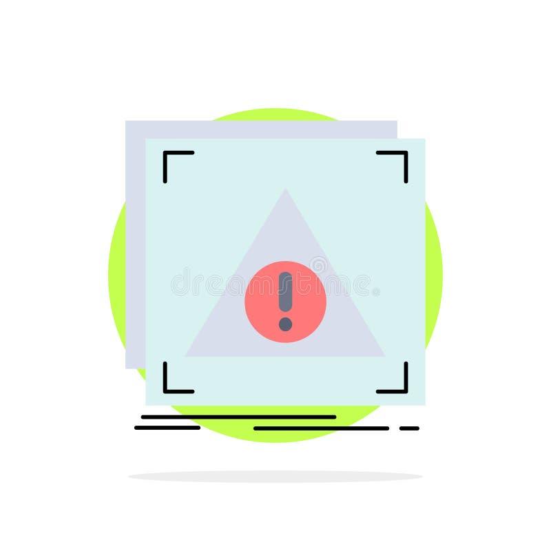 Błąd, zastosowanie, Zaprzeczający, serwer, raźny Płaski kolor ikony wektor royalty ilustracja