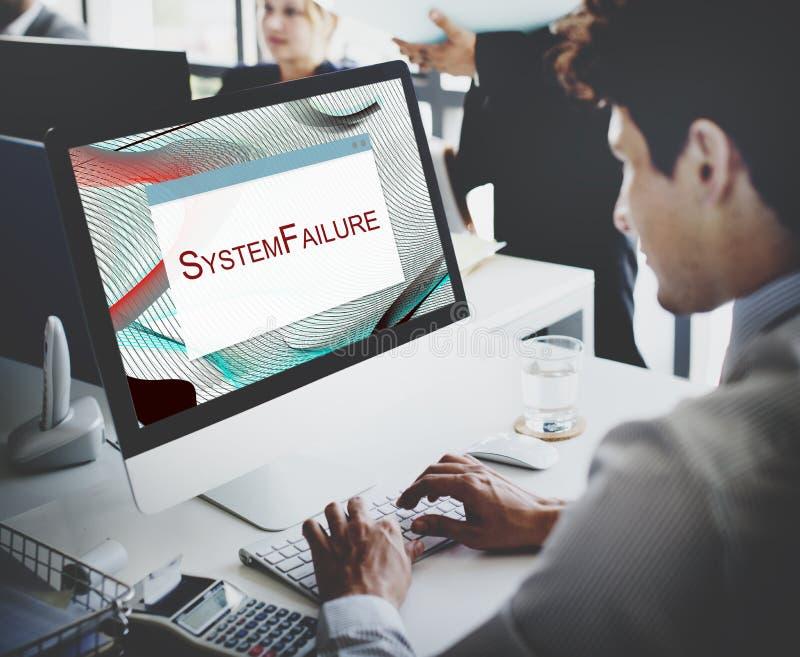 Błąd Zatrzymujący systemu rozłączenia ostrożności pojęcie zdjęcia stock