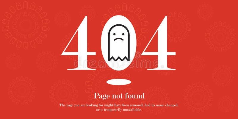 404 błędów strony znajdująca strona internetowa ilustracji