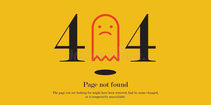 404 błędów znak z żółtym tłem ilustracji