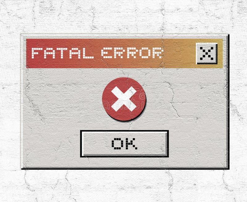 Błędu komputer osobisty ilustracji