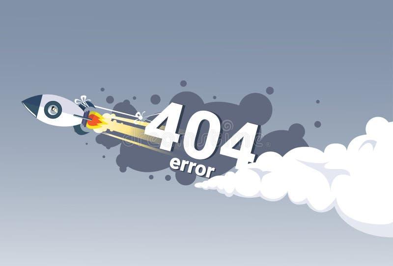 404 błędu wiadomości połączenie z internetem pojęcia Znajdujący Problemowy sztandar royalty ilustracja