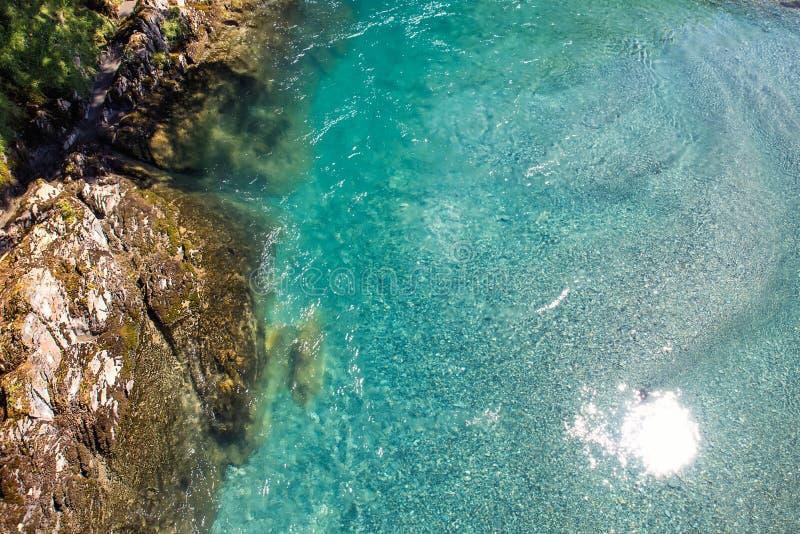 Błękitów baseny - piękny miejsce przy Makarora rzeką obrazy stock