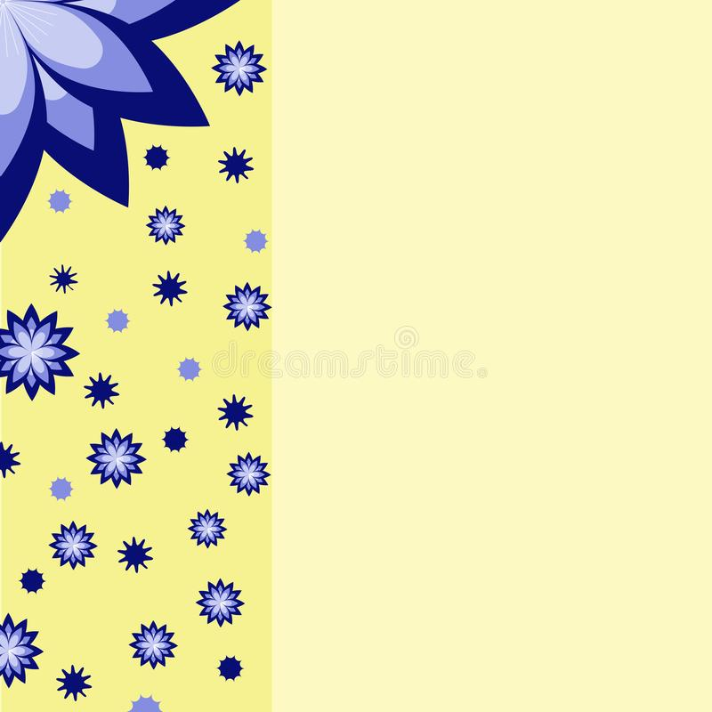 Błękitów kwiatów pokrywa ilustracji