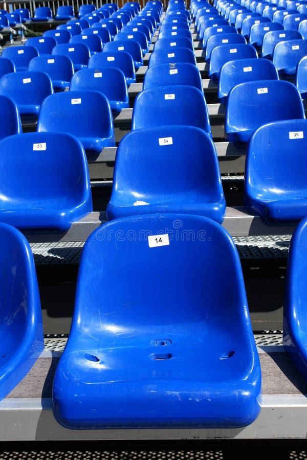 Błękitów siedzenia Na stadium fotografia stock