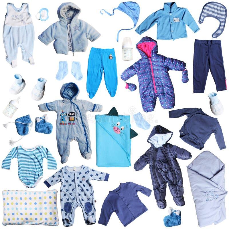 Błękitów ubrania dla chłopiec zdjęcia royalty free