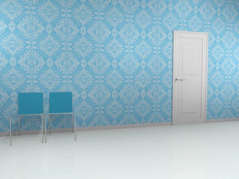 błękit ściana ilustracji