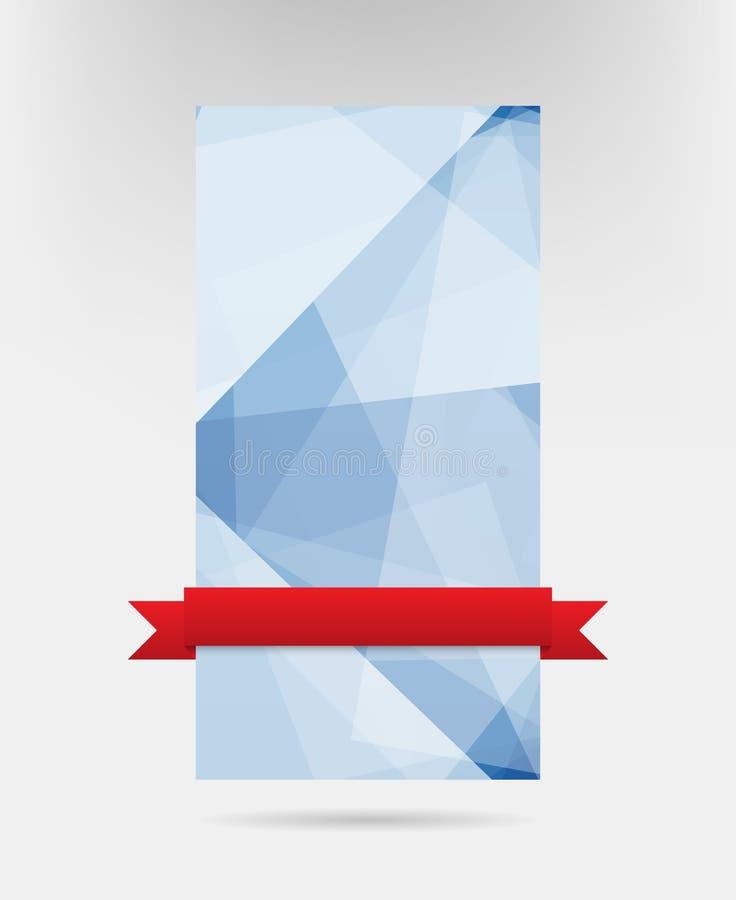 błękit abstrakcjonistyczna karta ilustracja wektor