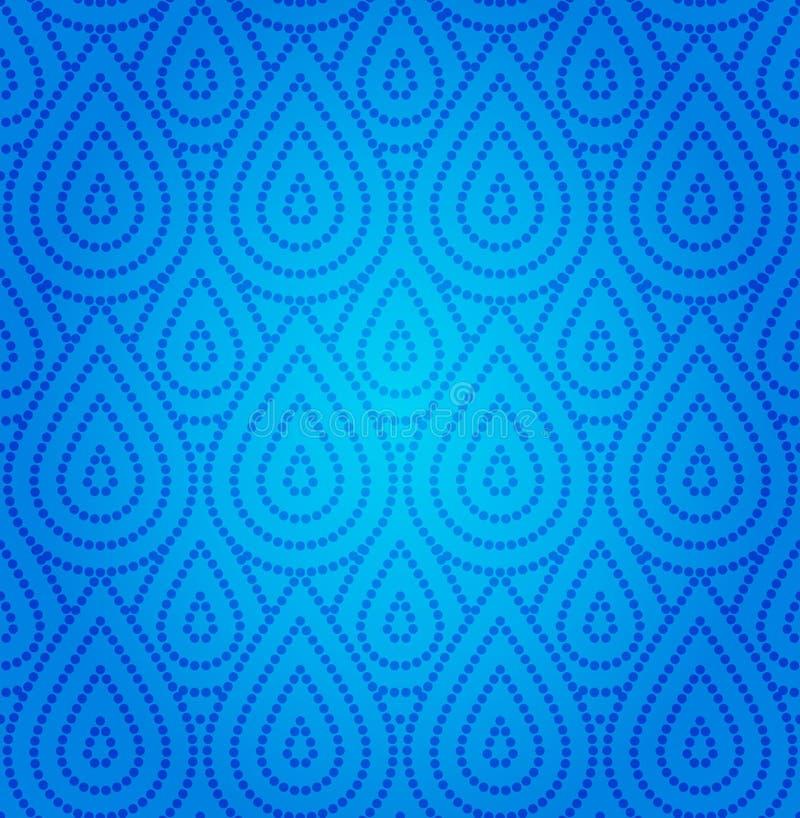 błękit adamaszka wzór bezszwowy ilustracja wektor
