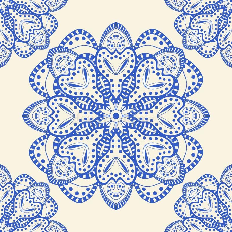 błękit bezszwowy deseniowy ilustracji
