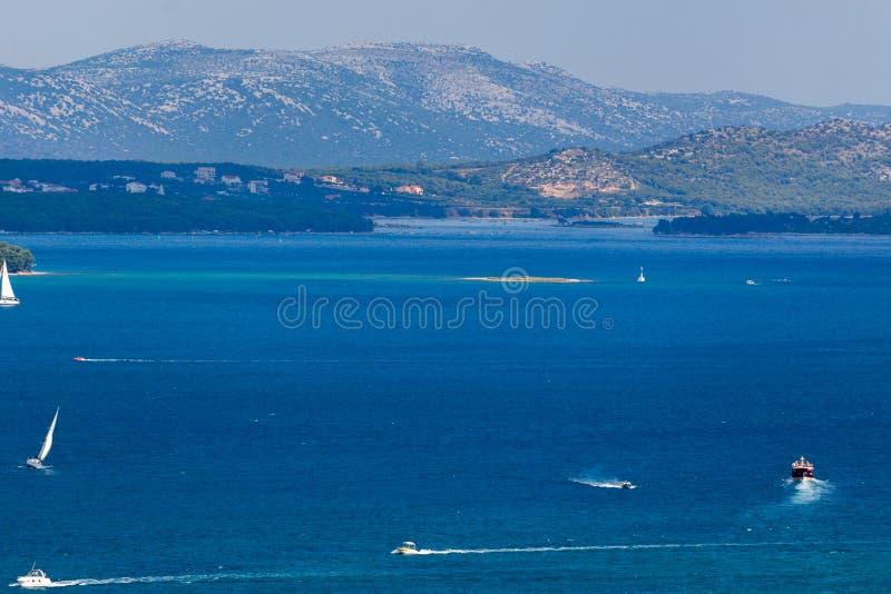Błękit brzegowy Dalmatia Zadar obraz royalty free