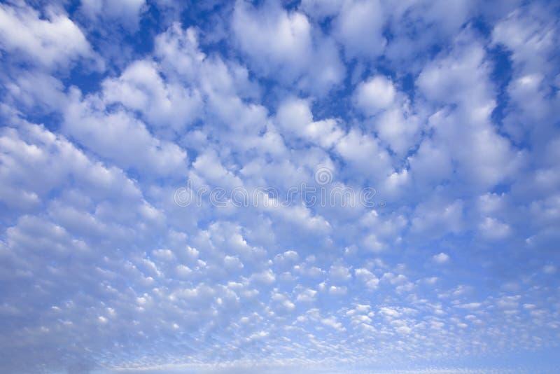 błękit chmurnieje cumulusu niebo zdjęcia stock