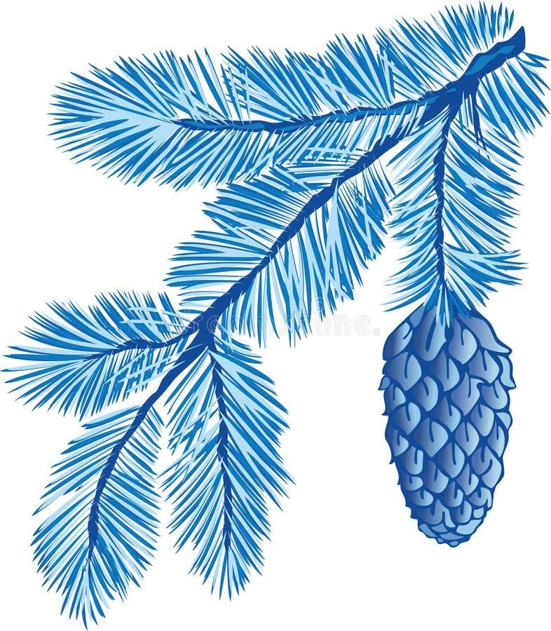 błękit drzewo gałęziasty futerkowy royalty ilustracja