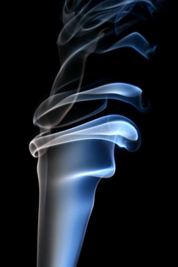 błękit dym fotografia stock
