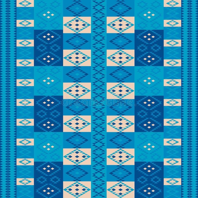 błękit dywan royalty ilustracja