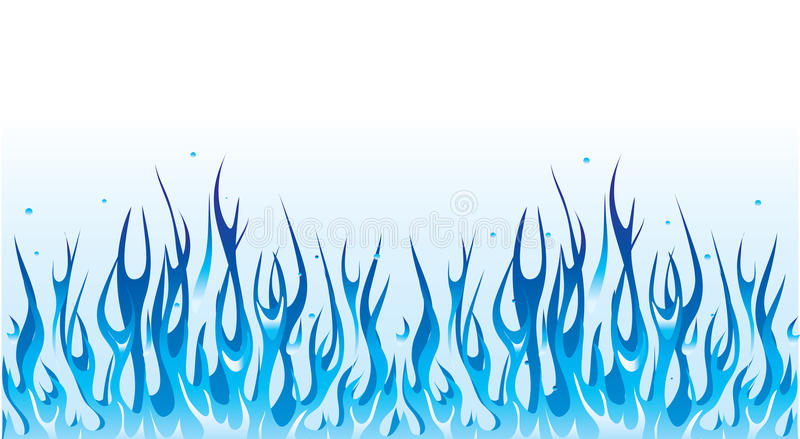 błękit granicy ogień royalty ilustracja