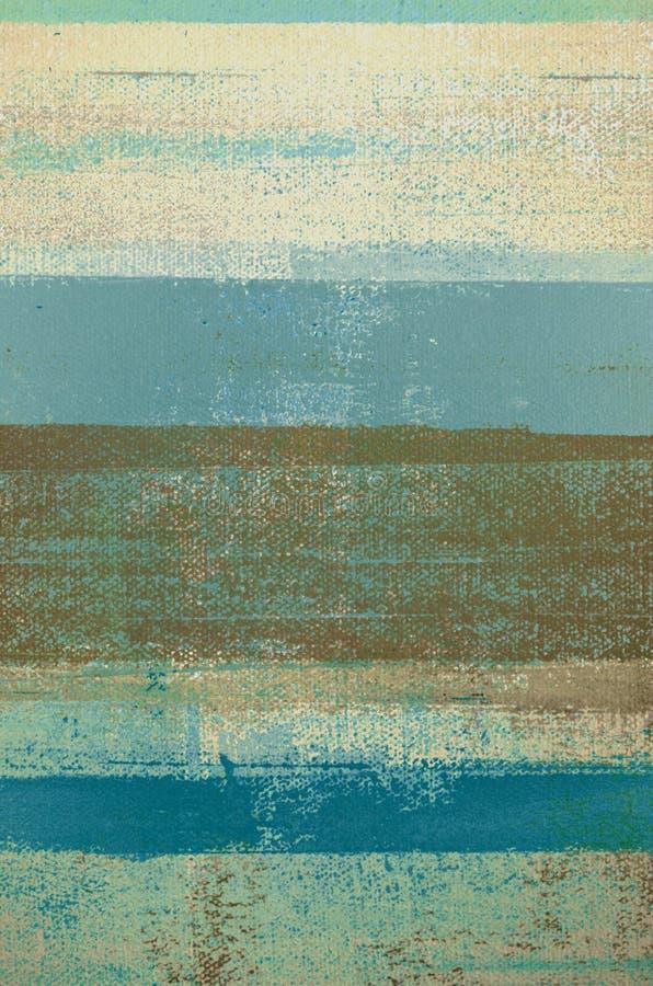 Błękit i Brown Abstrakcjonistycznej sztuki obraz obrazy royalty free