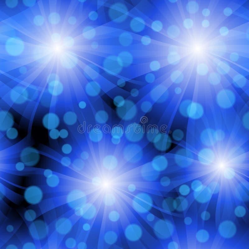 błękit kłębowisko deseniowy bezszwowy ilustracja wektor
