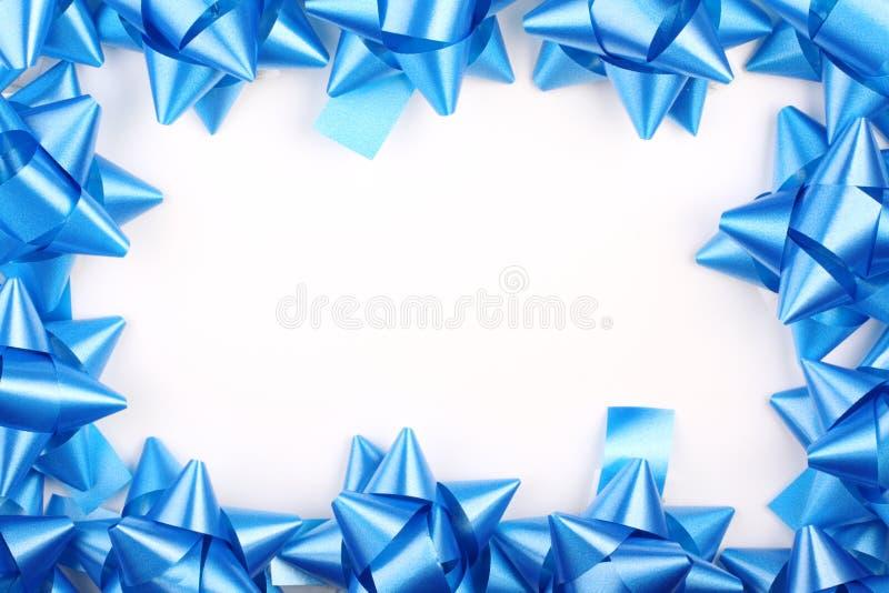 błękit kłania się boże narodzenie prezent obraz royalty free