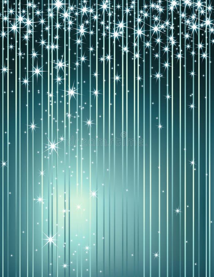 błękit karty gwiazda royalty ilustracja
