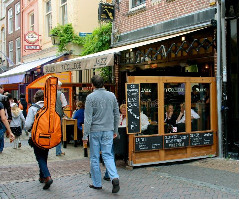 błękit kawiarni sławny jazz żywy obrazy stock