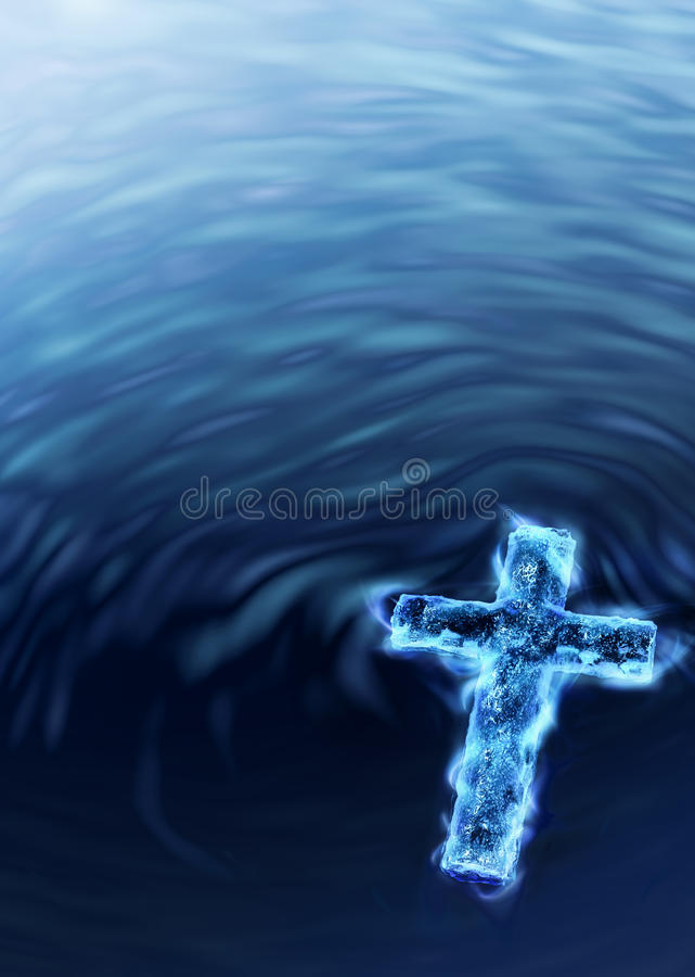 błękit krzyż royalty ilustracja