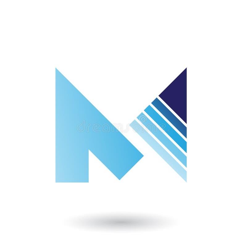 Błękit Listowy M z Diagonally Paskującym trójboka wektorem Illustra ilustracja wektor