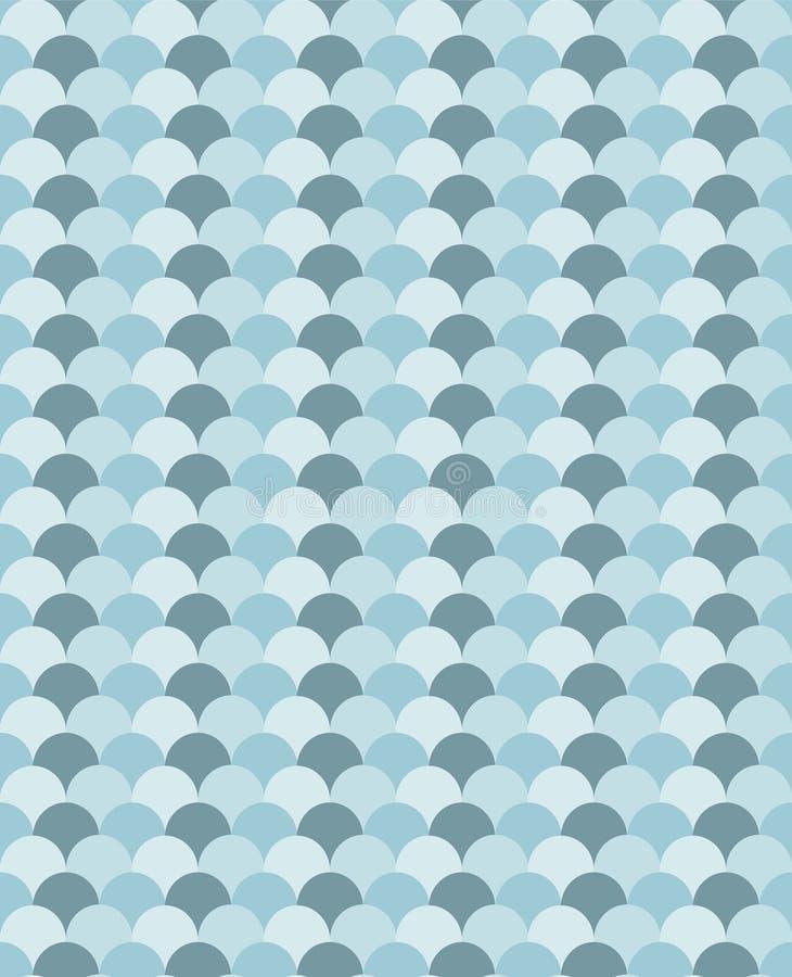 Błękit macha szewron jak bezszwowy wektoru wzór ilustracja wektor