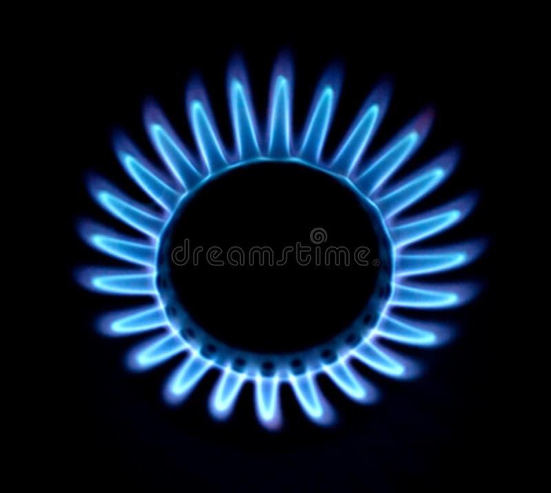 błękit ogienia gaz zdjęcia royalty free