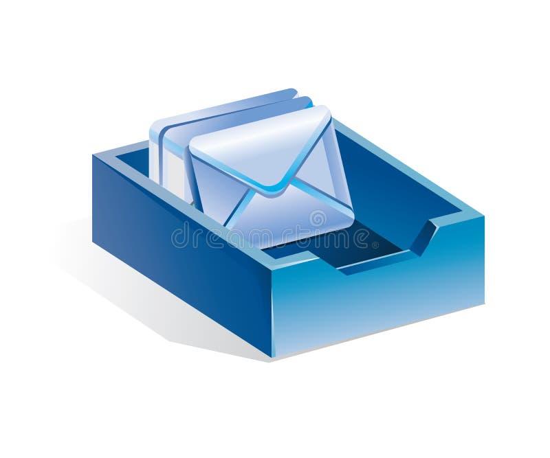 błękit pisze list skrzynka pocztowa royalty ilustracja