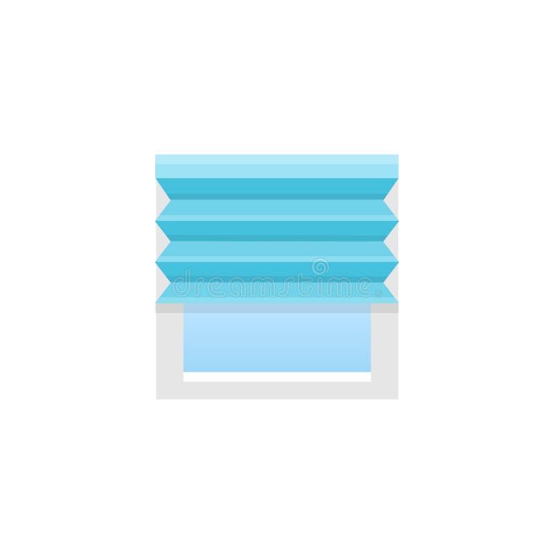 Błękit plisująca stora również zwrócić corel ilustracji wektora Płaska ikona cień ilustracja wektor