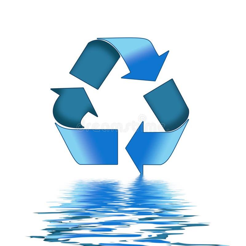 błękit przetwarza symbol ilustracji