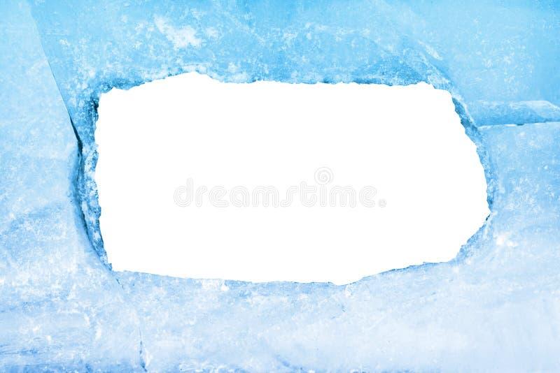 błękit pusty ramy lód fotografia stock