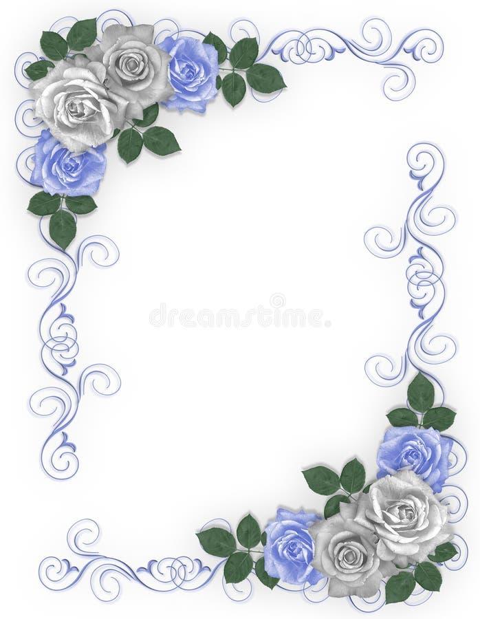 błękit róż rabatowy poślubiać ilustracja wektor