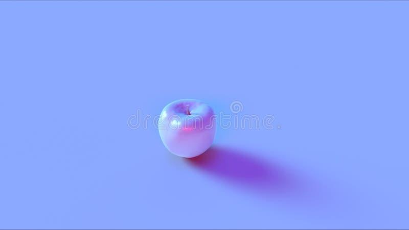 Błękit Różowy Apple royalty ilustracja
