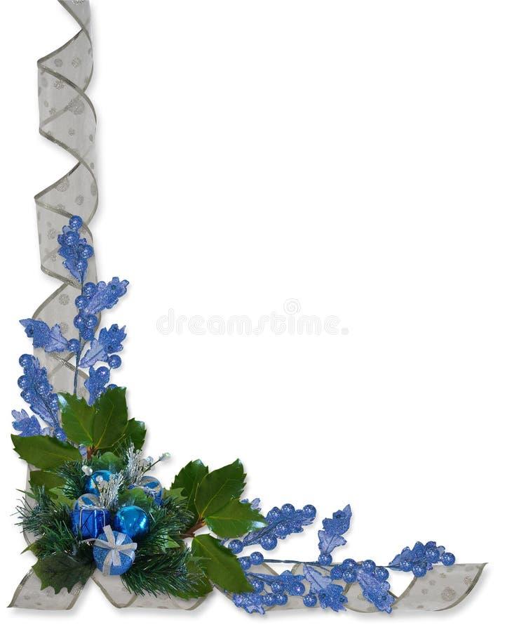 błękit rabatowi bożych narodzeń ornamenty ilustracja wektor